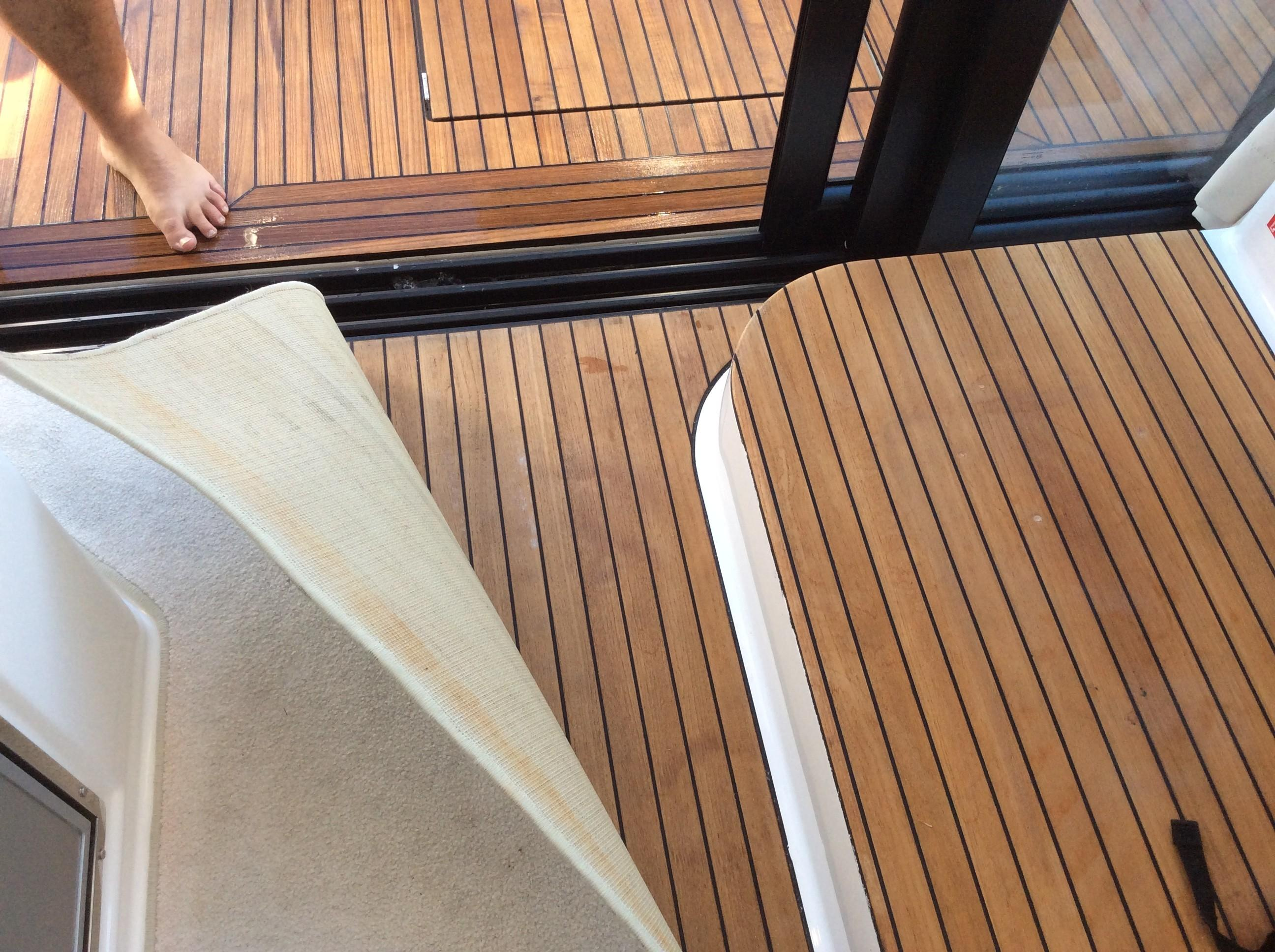 Teak Decks - Inside and Outside Cockpit and Helm Area