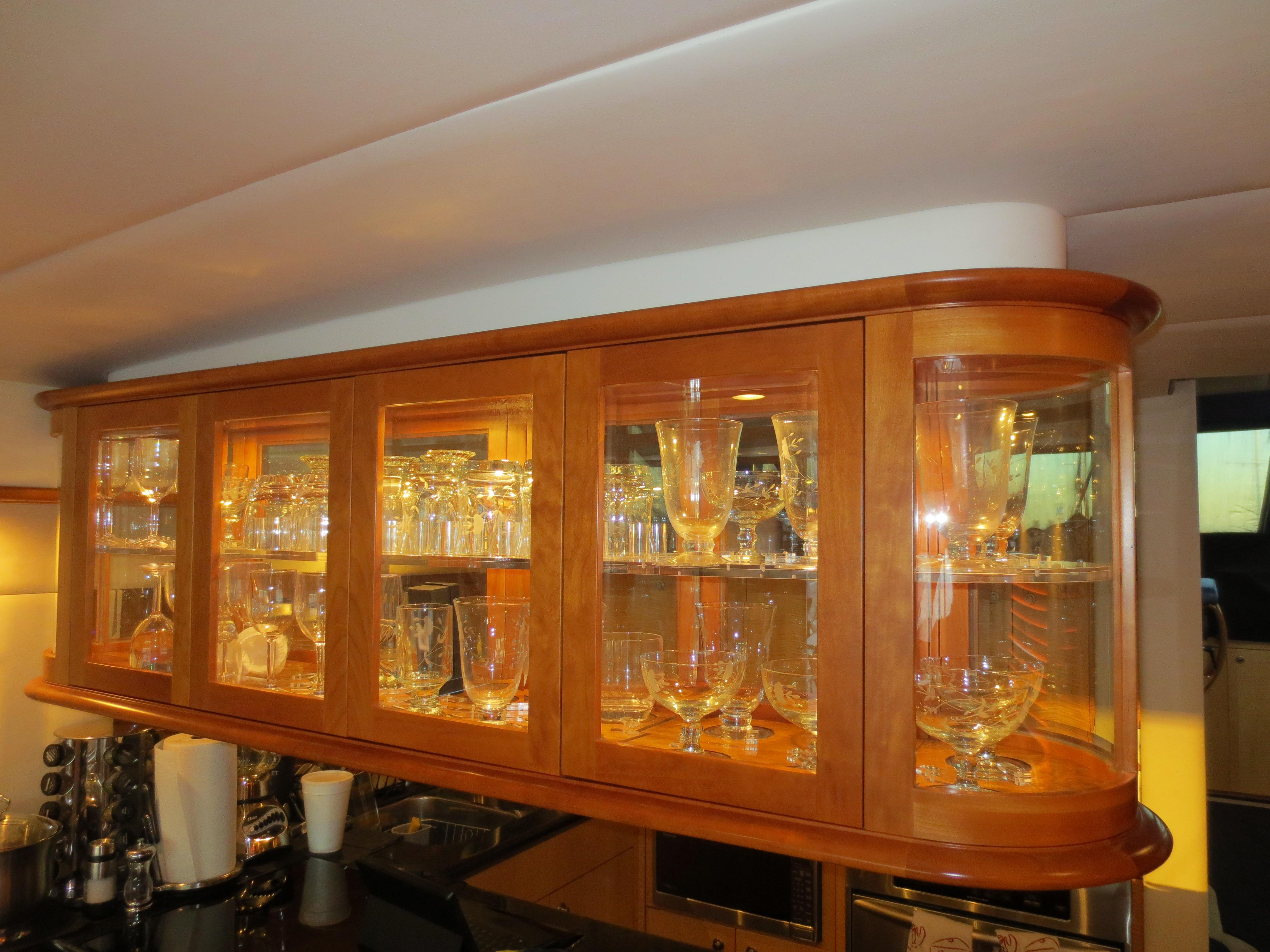 Cherry and Glass Crystal Cabinet