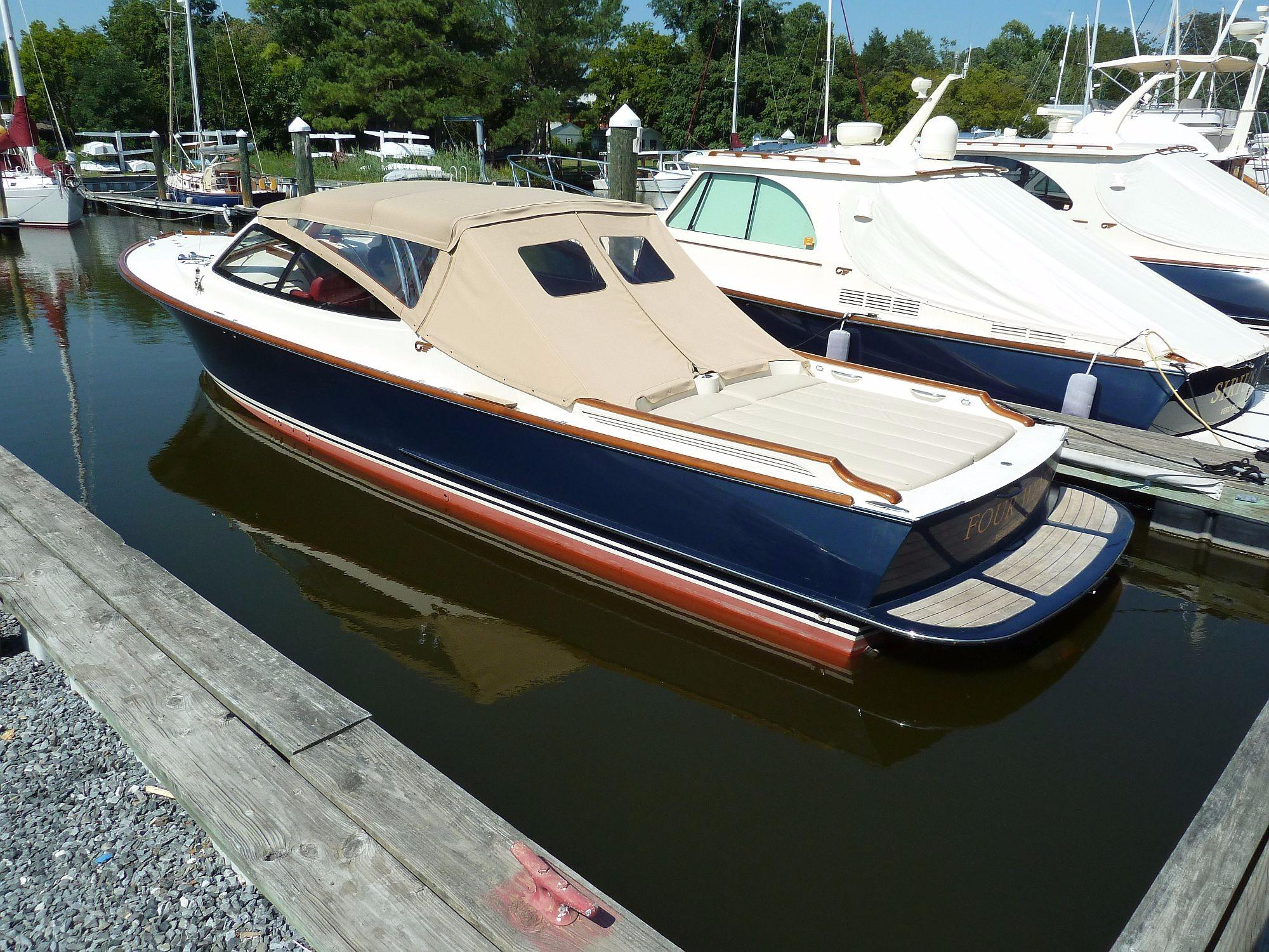 Dock with aft weather curtain