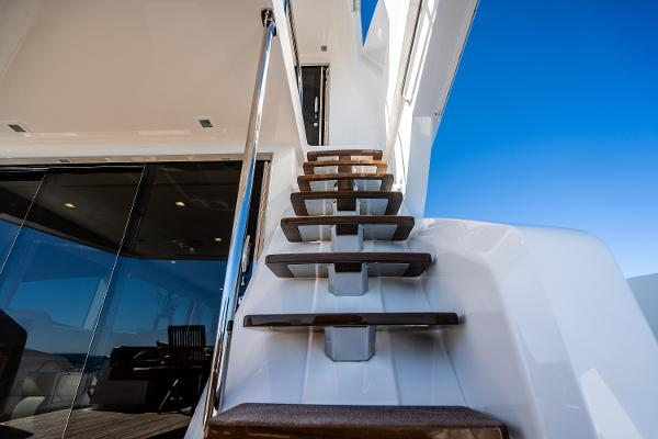 Stairs to the Upper Aft Deck
