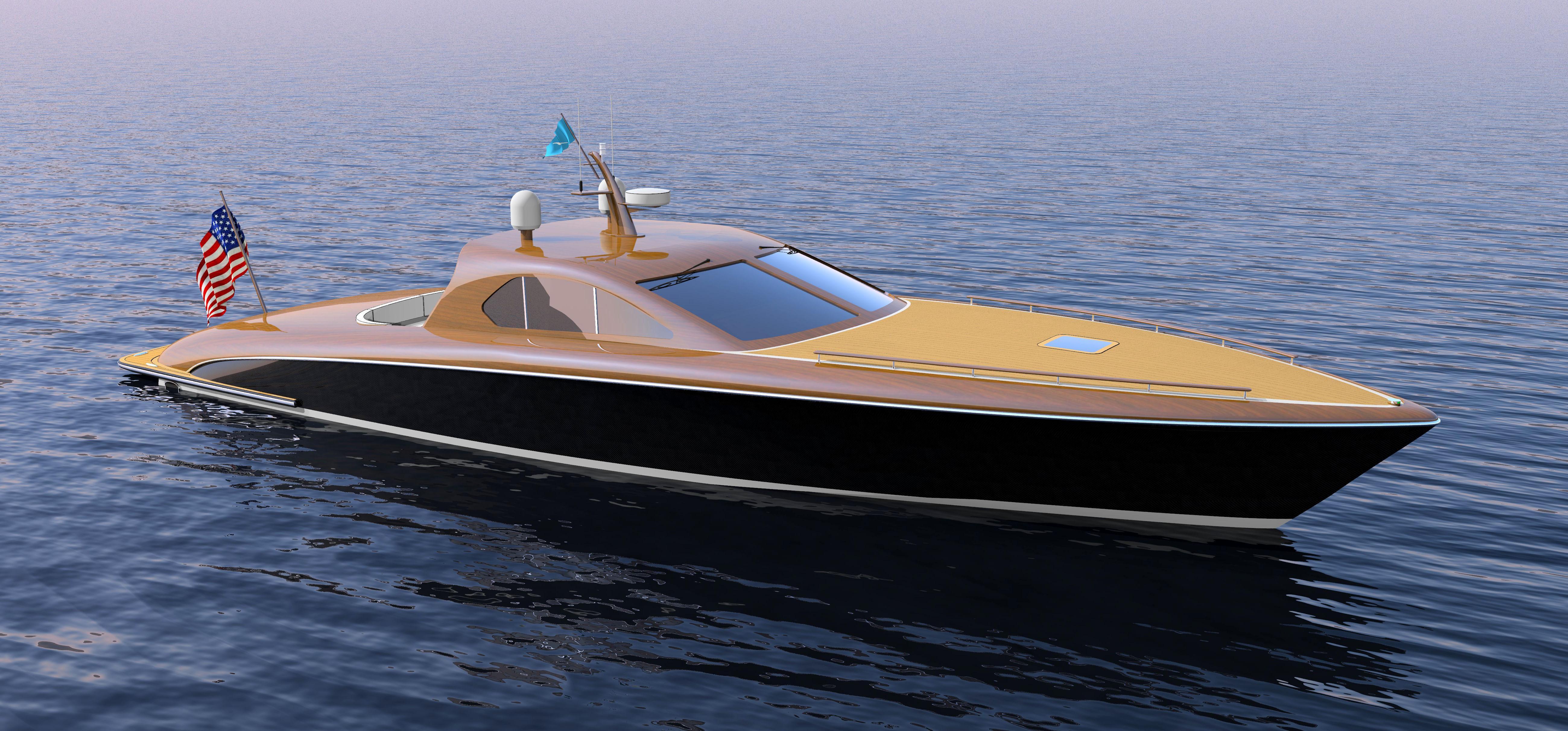 60' Sport Boat Forward Quarter