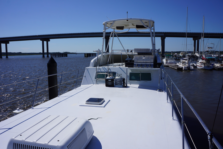 Carri-craft 57 Catamaran - upper deck looking forward