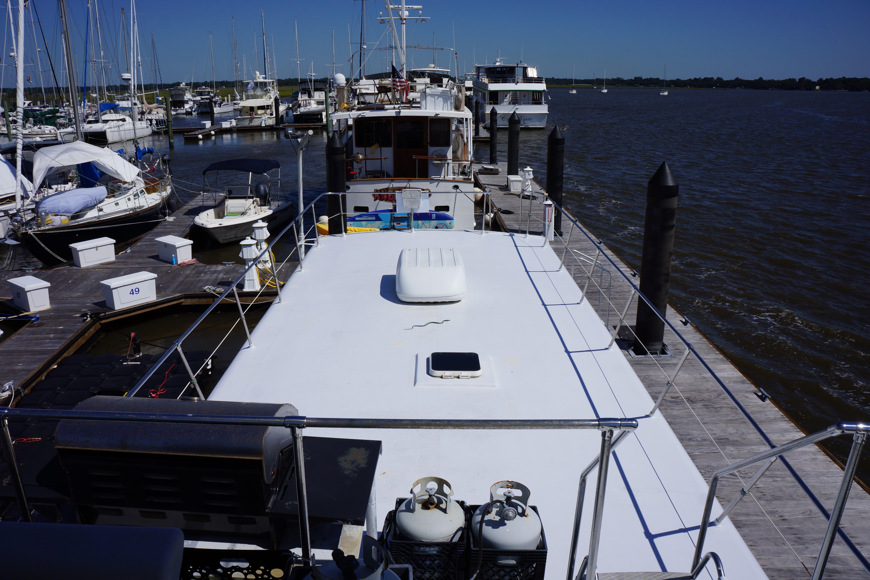 Carri-craft 57 Catamaran - upper deck looking aft