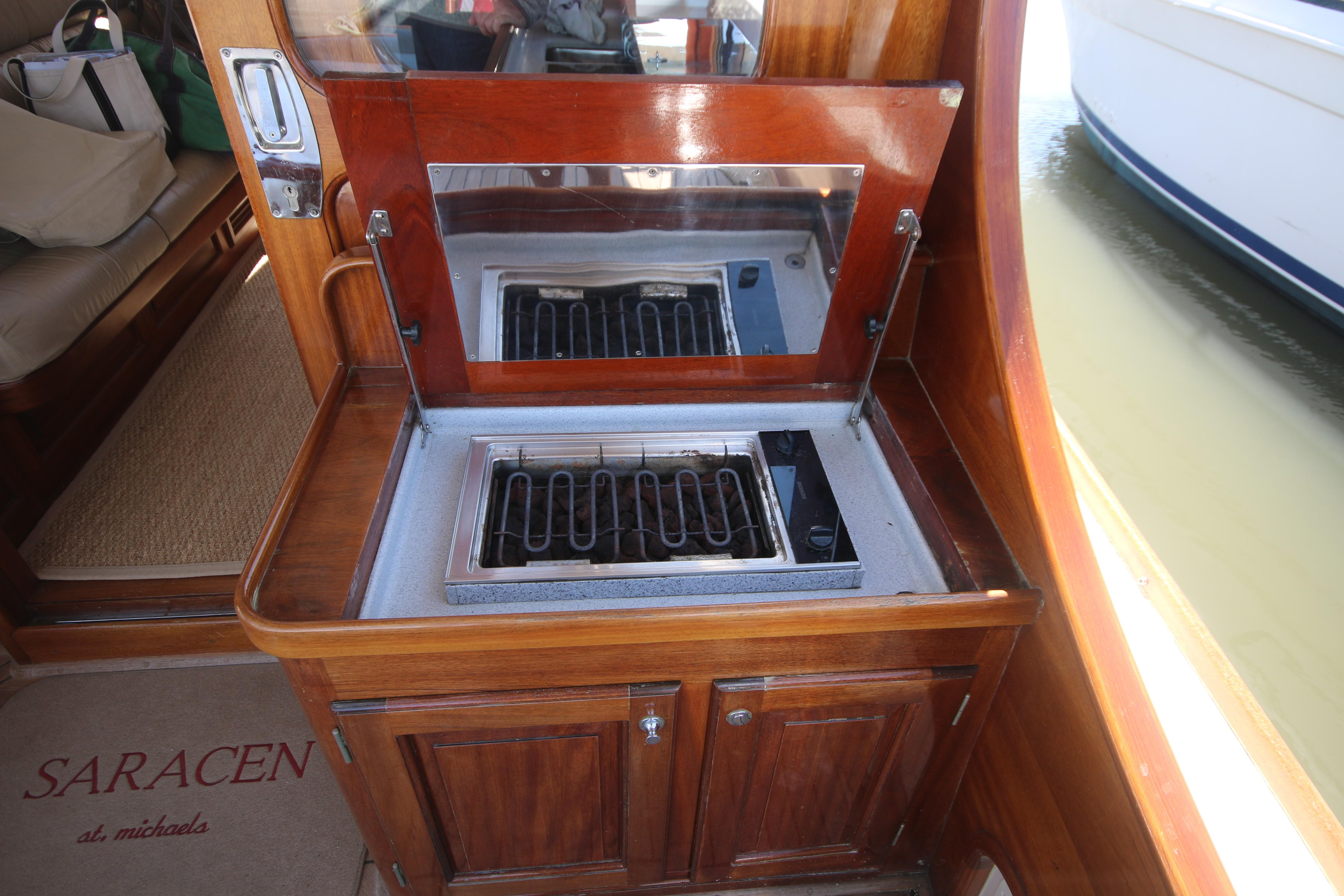 covered grill cabinet