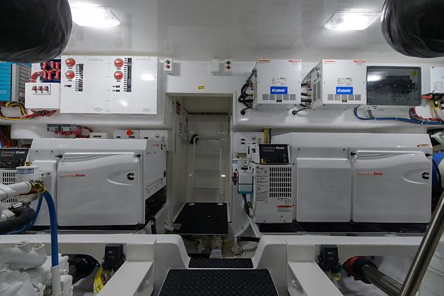 Engine Room Twin Generators