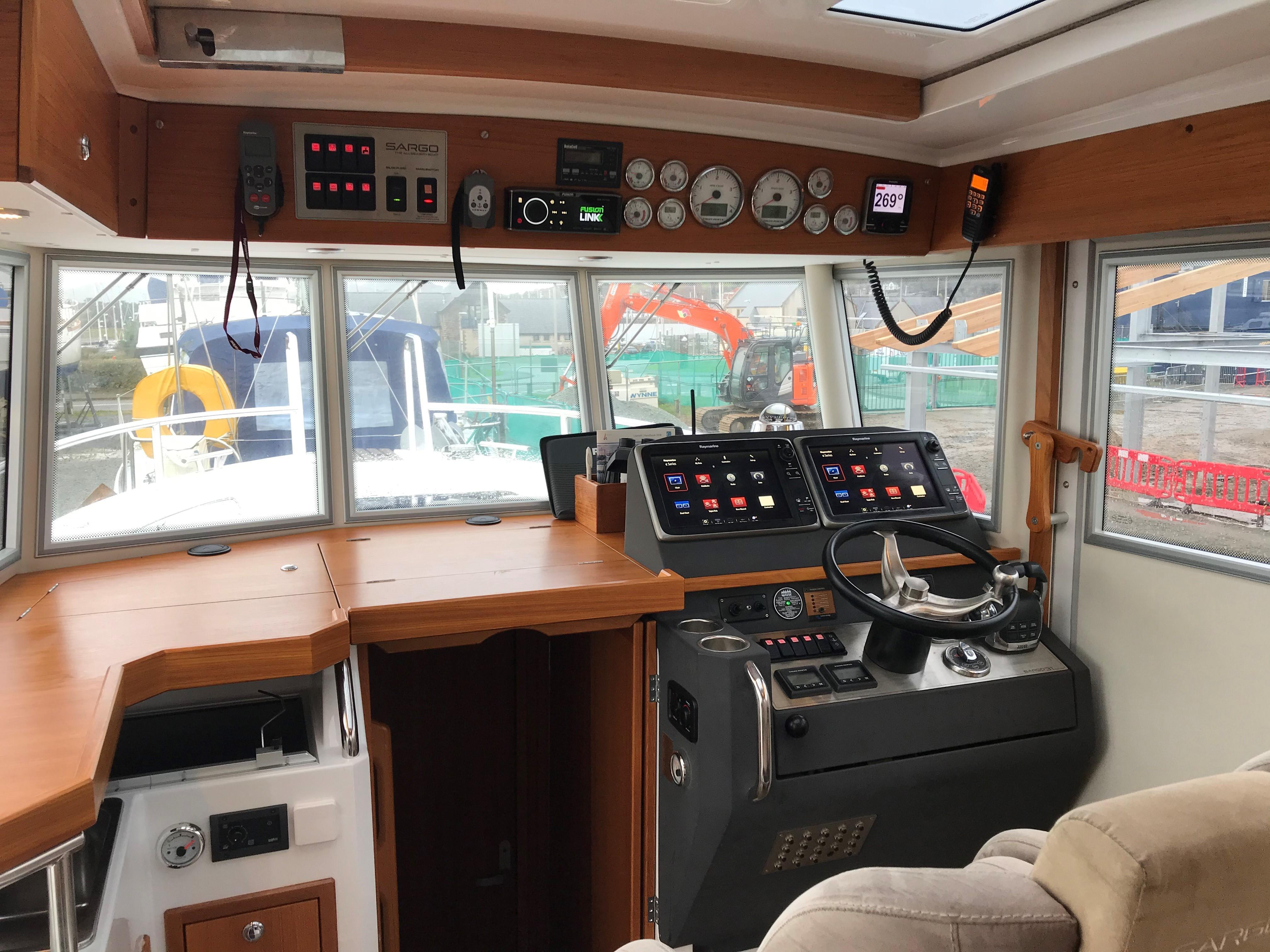 2014 Sargo 31 - helm and forward wheelhouse