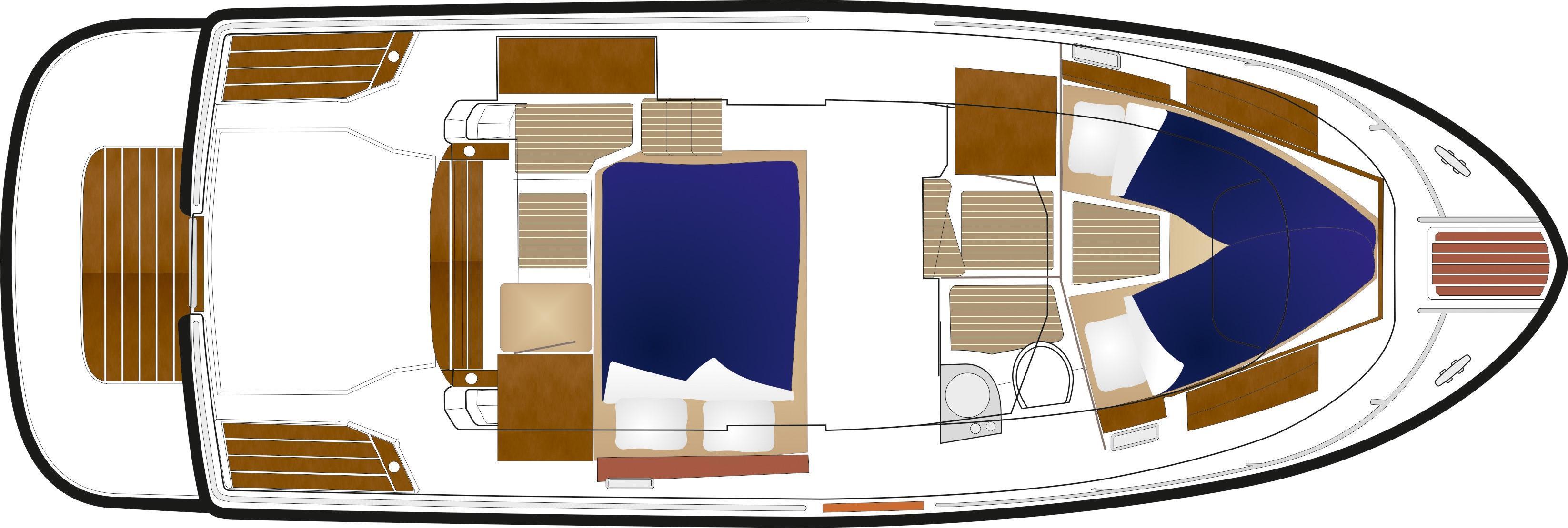 Sargo 31 deck plan - lower deck