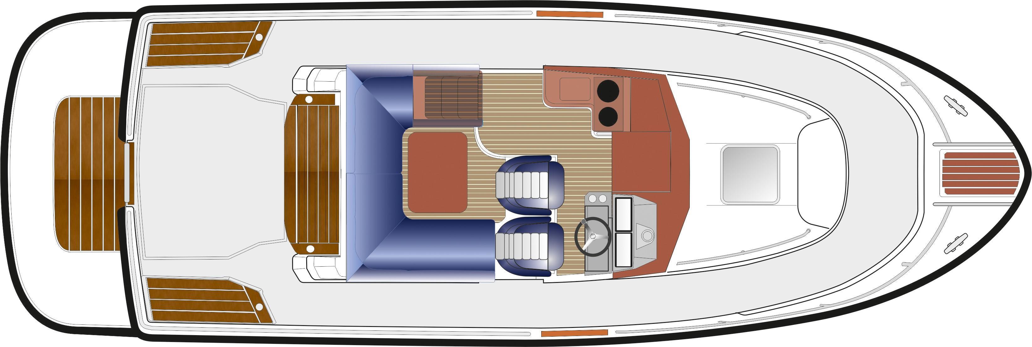 Sargo 31 deck plan - upper deck