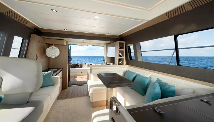 View from helm looking aft