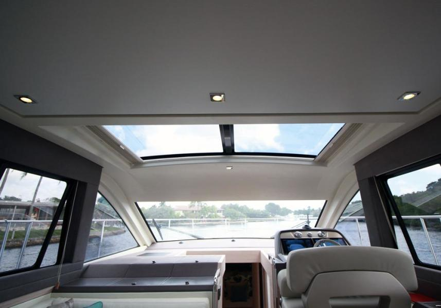 Sunroof with shades open
