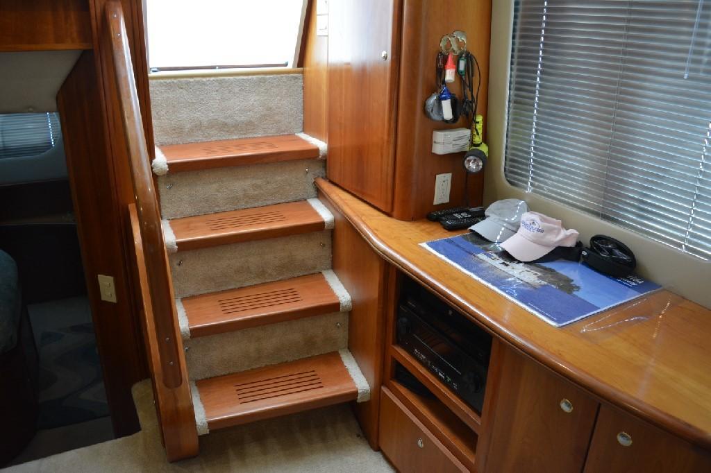 Silverton 43 Motor Yacht - Custom Cherry Treads