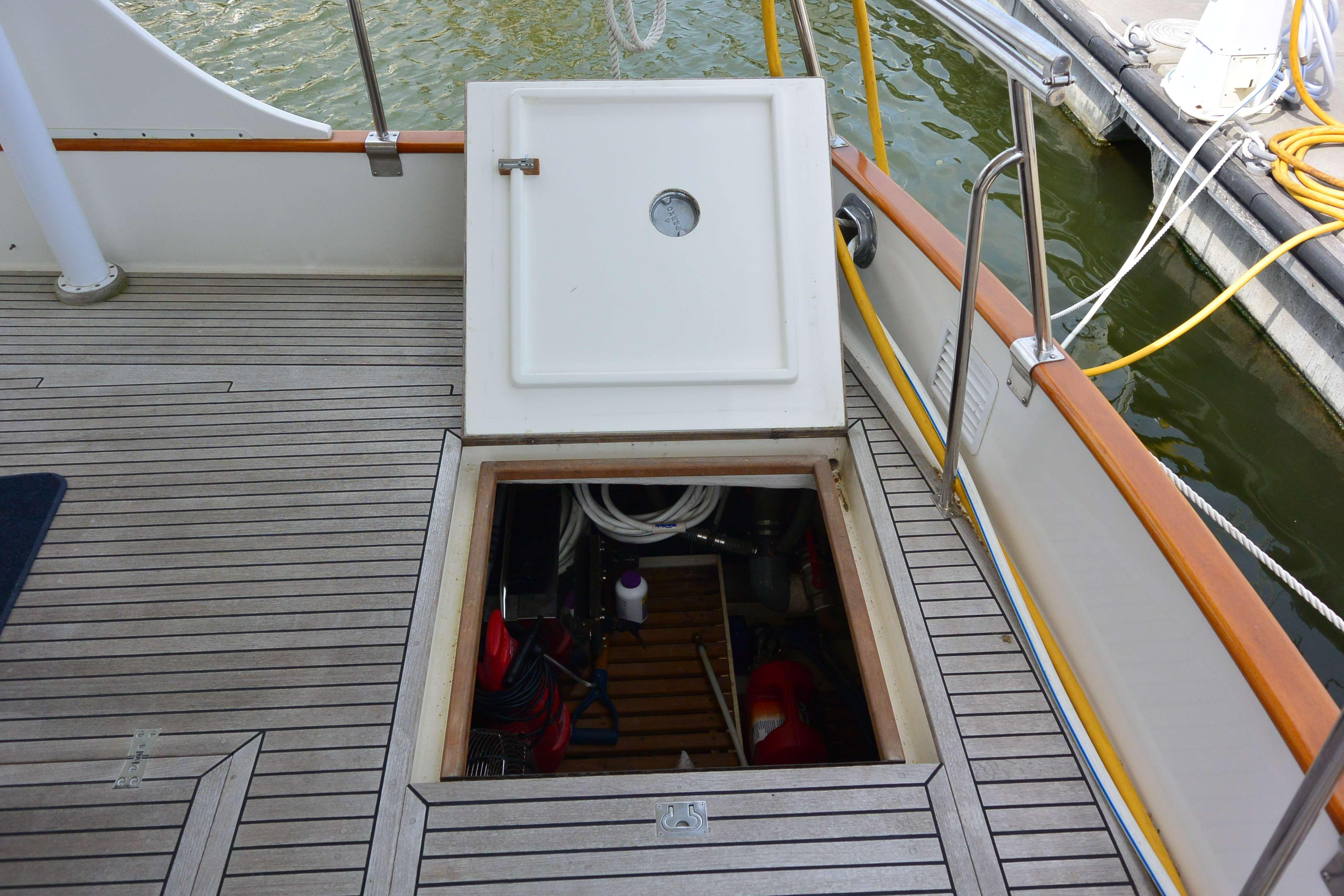 Aft deck lazerette - Storage, and access to Engine Room