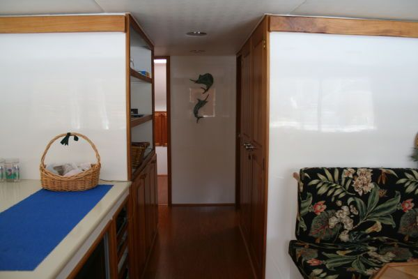 On-deck passageway forward to staterooms