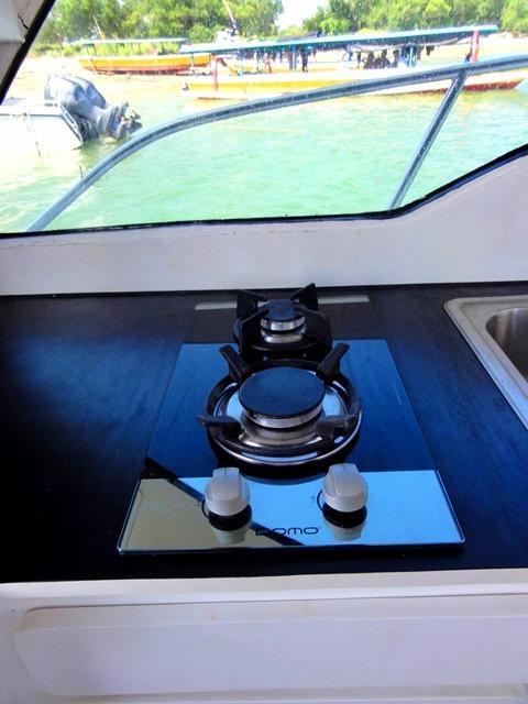 46ft Flybridge Cruiser 2 burner gas stove