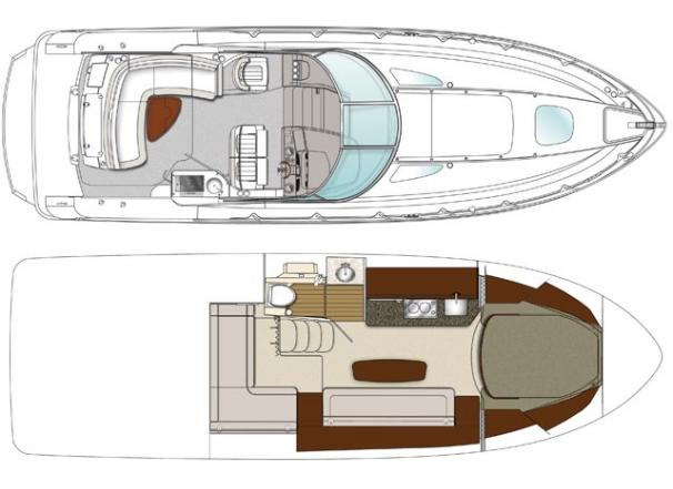 Sea Ray 370 Sundancer Layouts