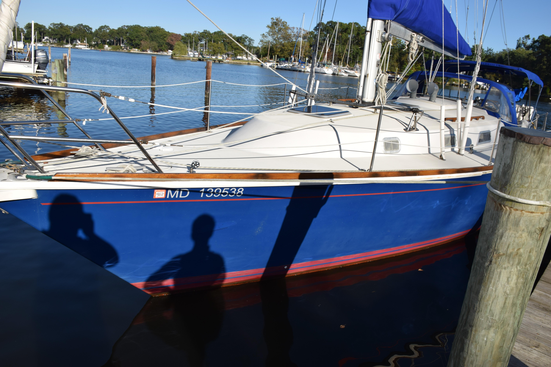 Blue Hull w/Red Stripes