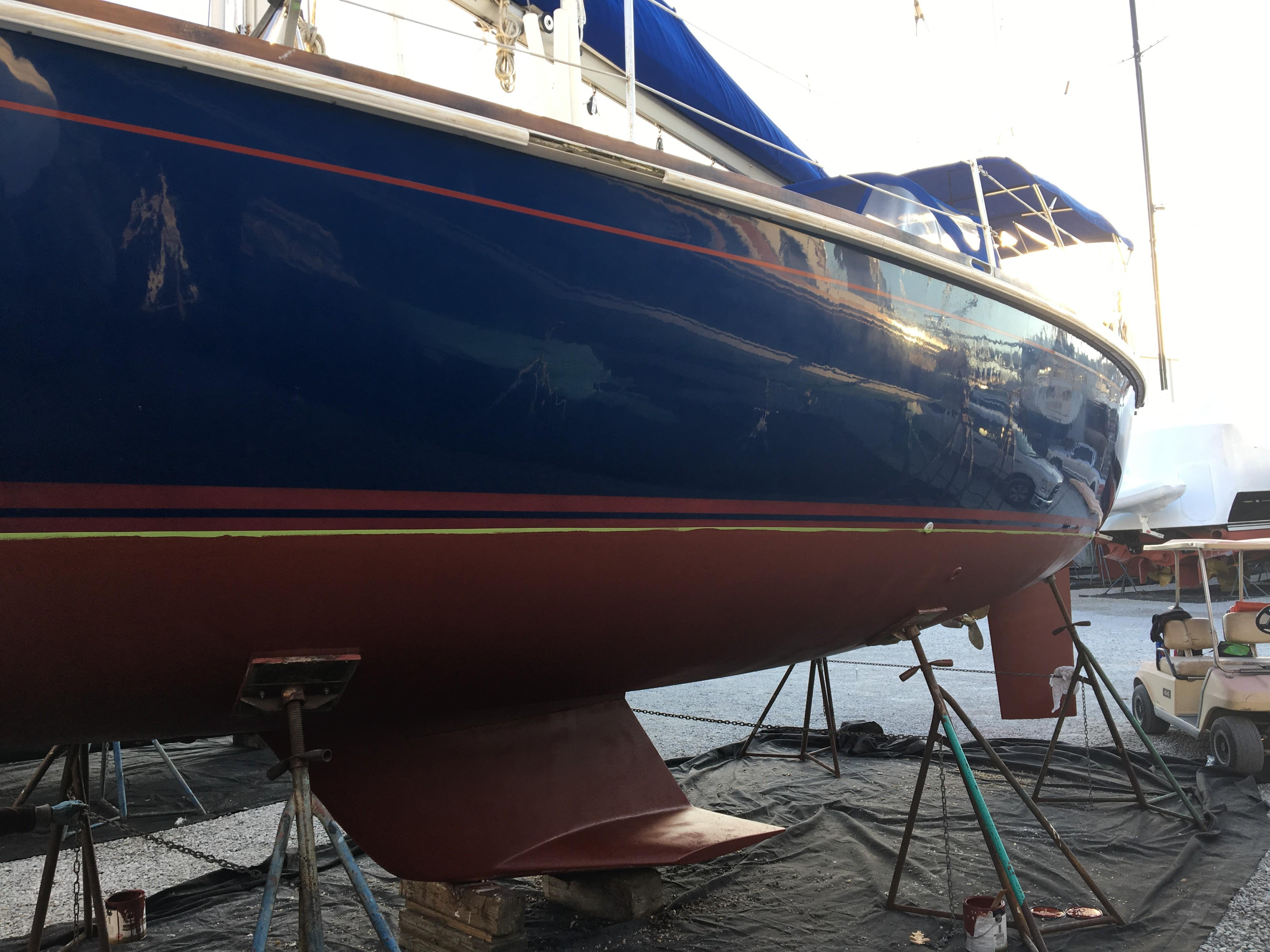 Waxed Hull and New Bottom Paint