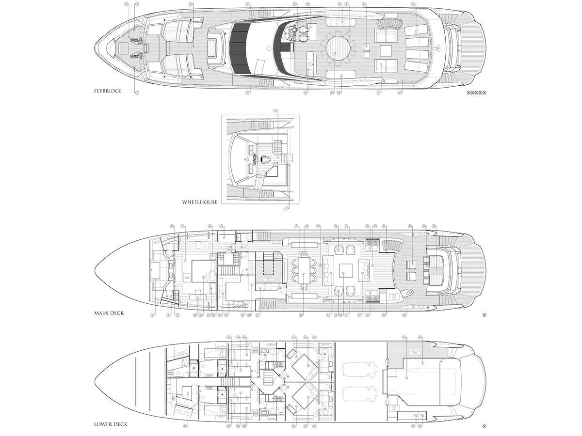 Sesame 116 Yacht Sunseeker Adriatic Group Navigation Light Wiring For Dual Stationsnavlights001jpg Layout