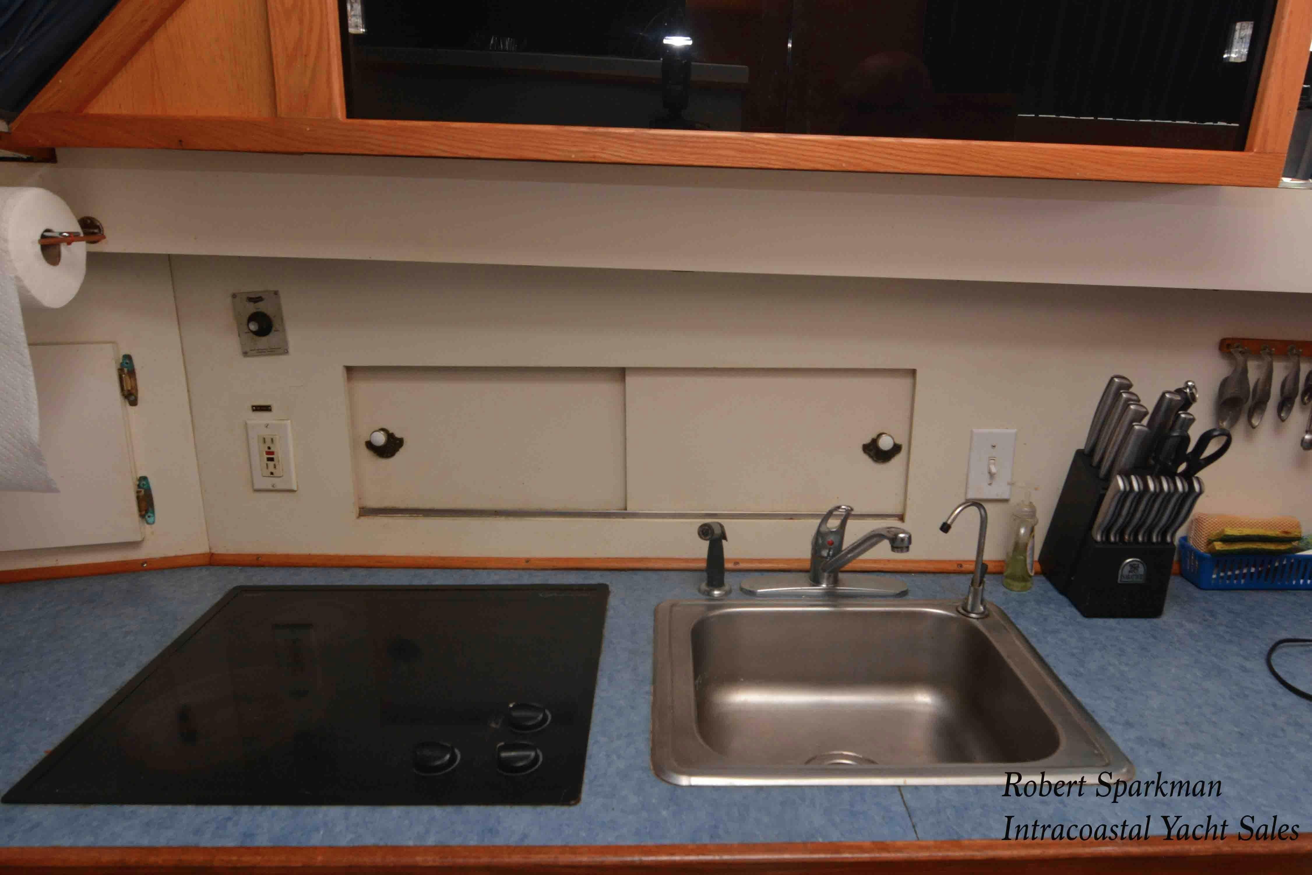 Bertram 46 Convertible - Galley Sink