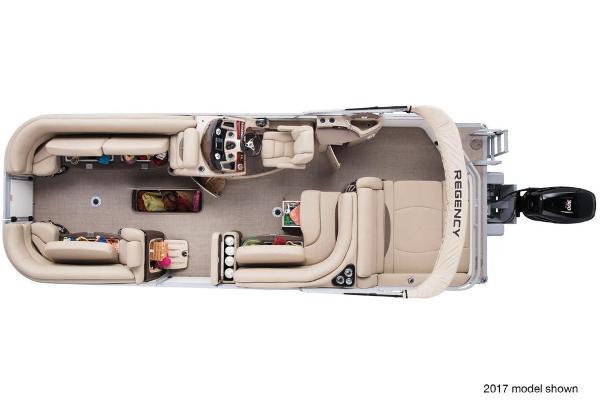 2018 Regency boat for sale, model of the boat is 254 DL3 & Image # 6 of 8