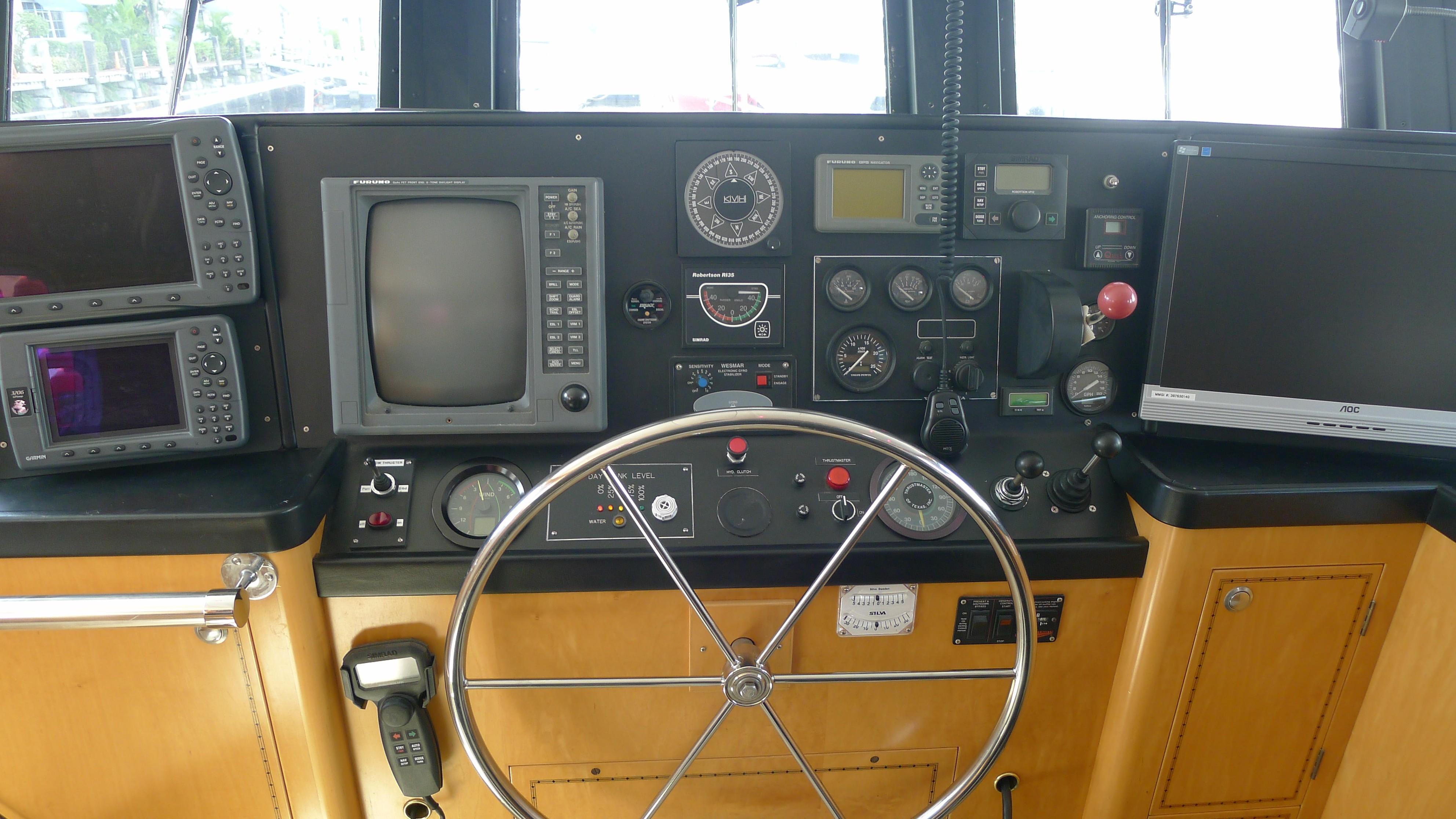 Pilothouse Helm Controls