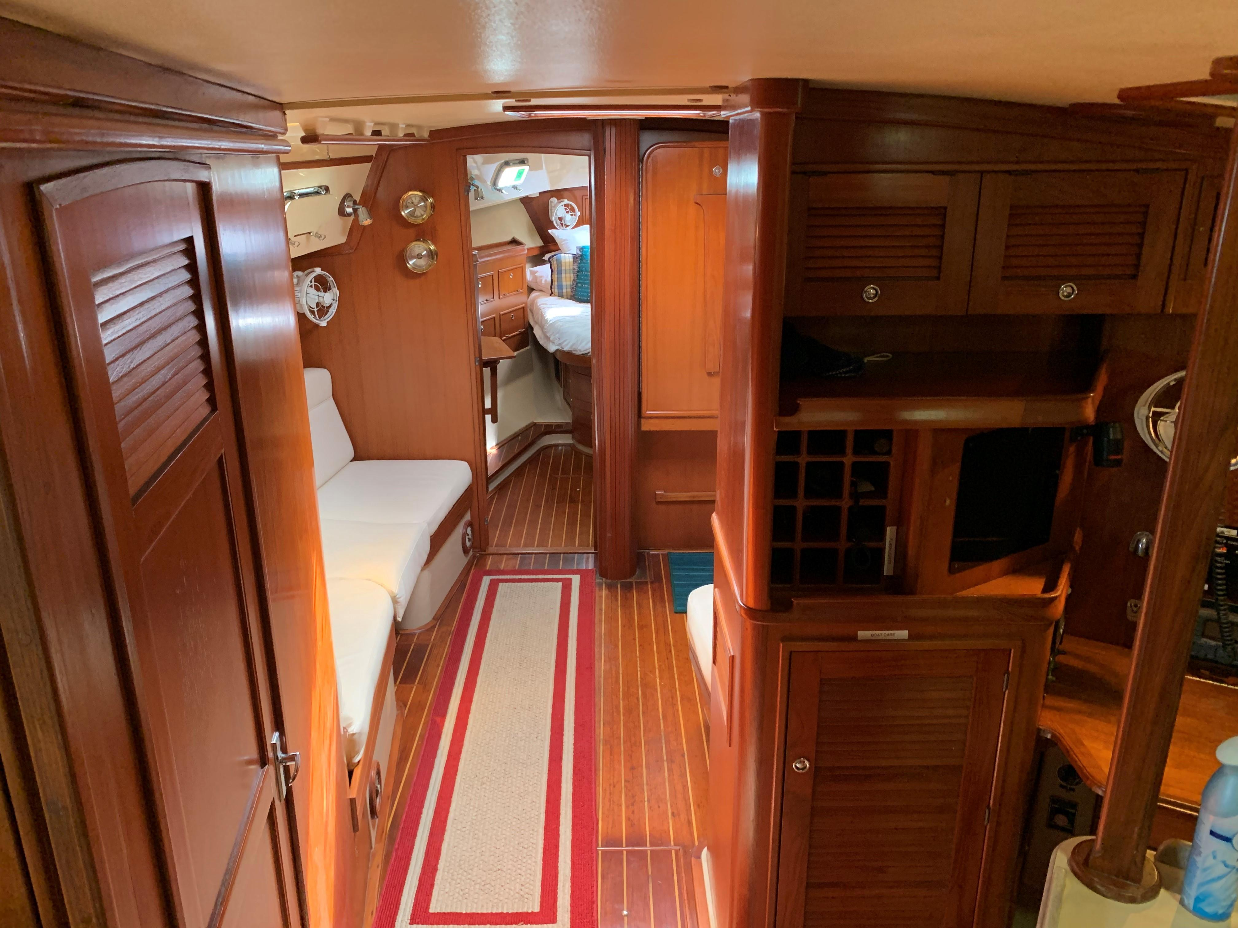 Interior view from companionway