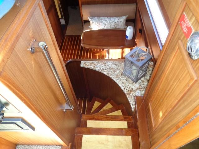 Hatteras 53 Motor Yacht - Steps to Galley