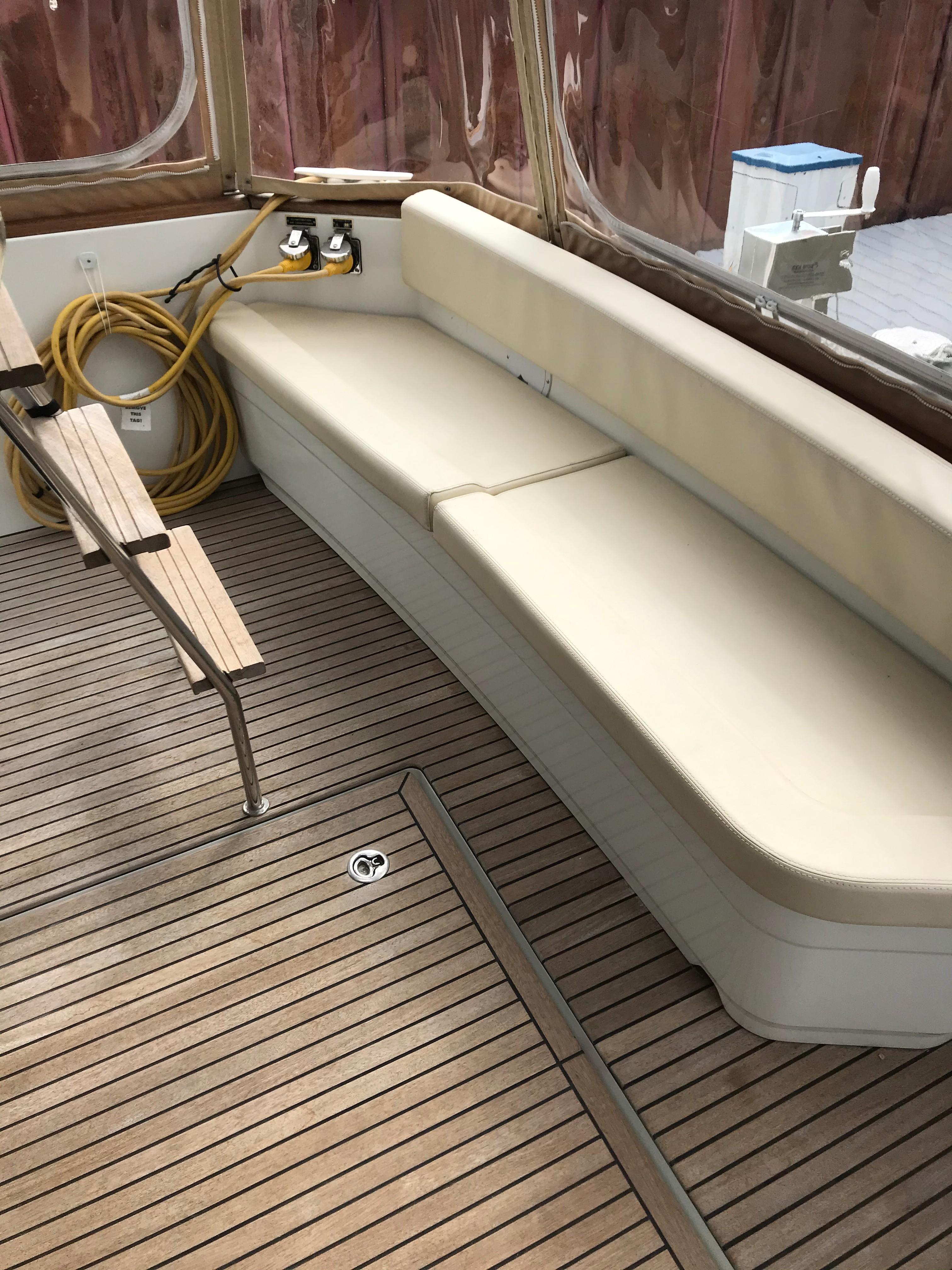 Beneteau 34 Swift Trawler - Cockpit Lounge Seat upgrade/Teak Decking