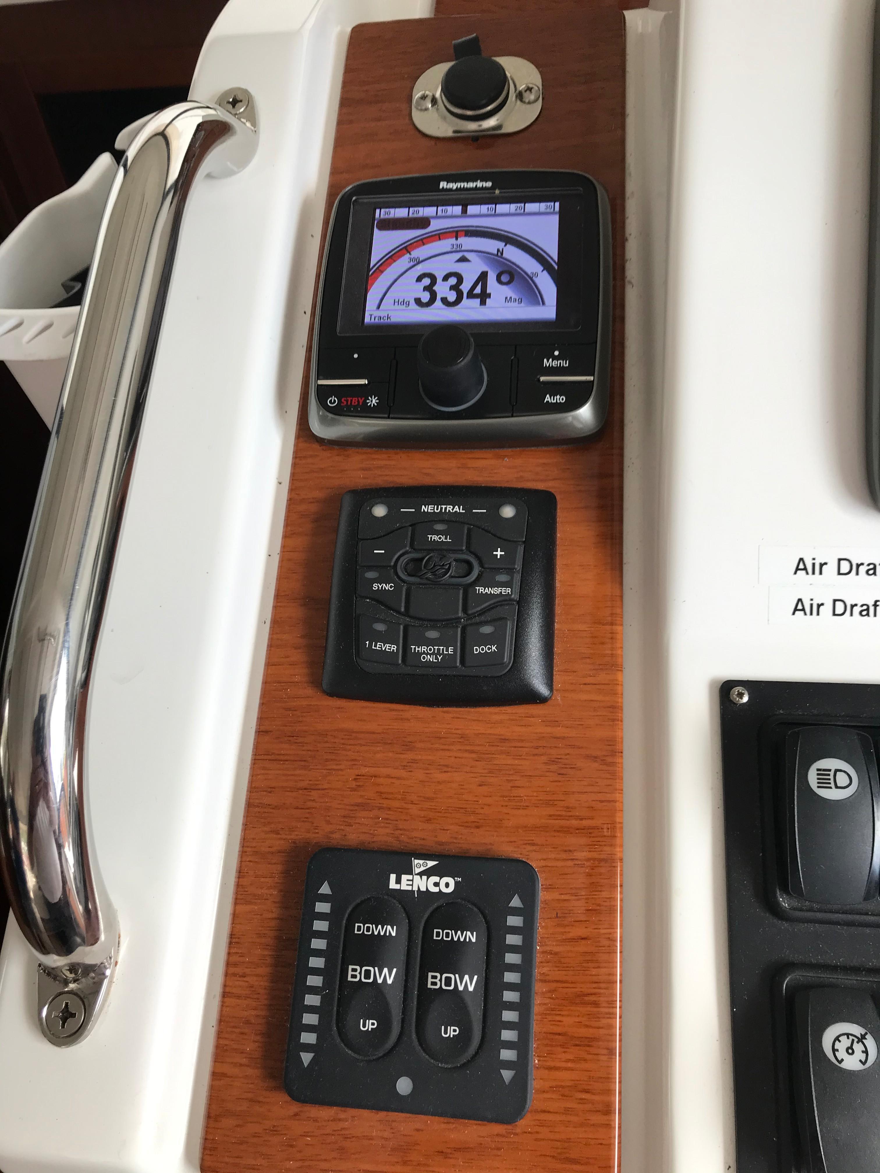 Beneteau 34 Swift Trawler - Lower Helm Electronics