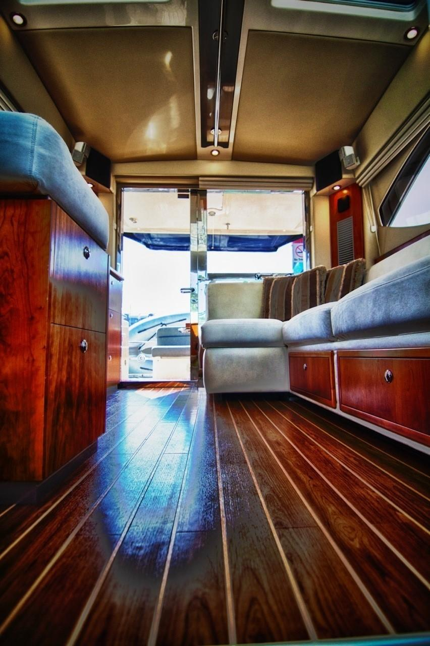 full length wooden saloon deck
