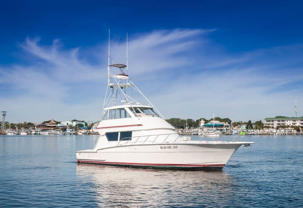 Seas the Day Hatteras 1990 Convertible Starboard Profile