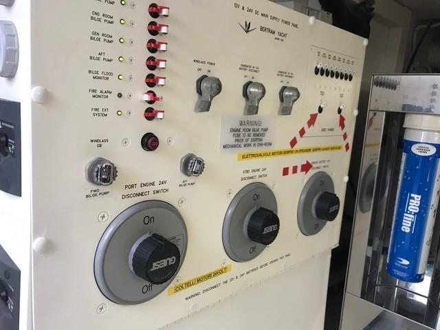 Engine Room Battery Switch Panel