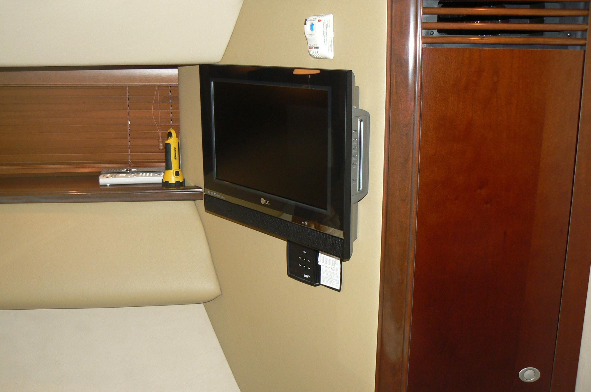 3rd Bunk stateroom TV