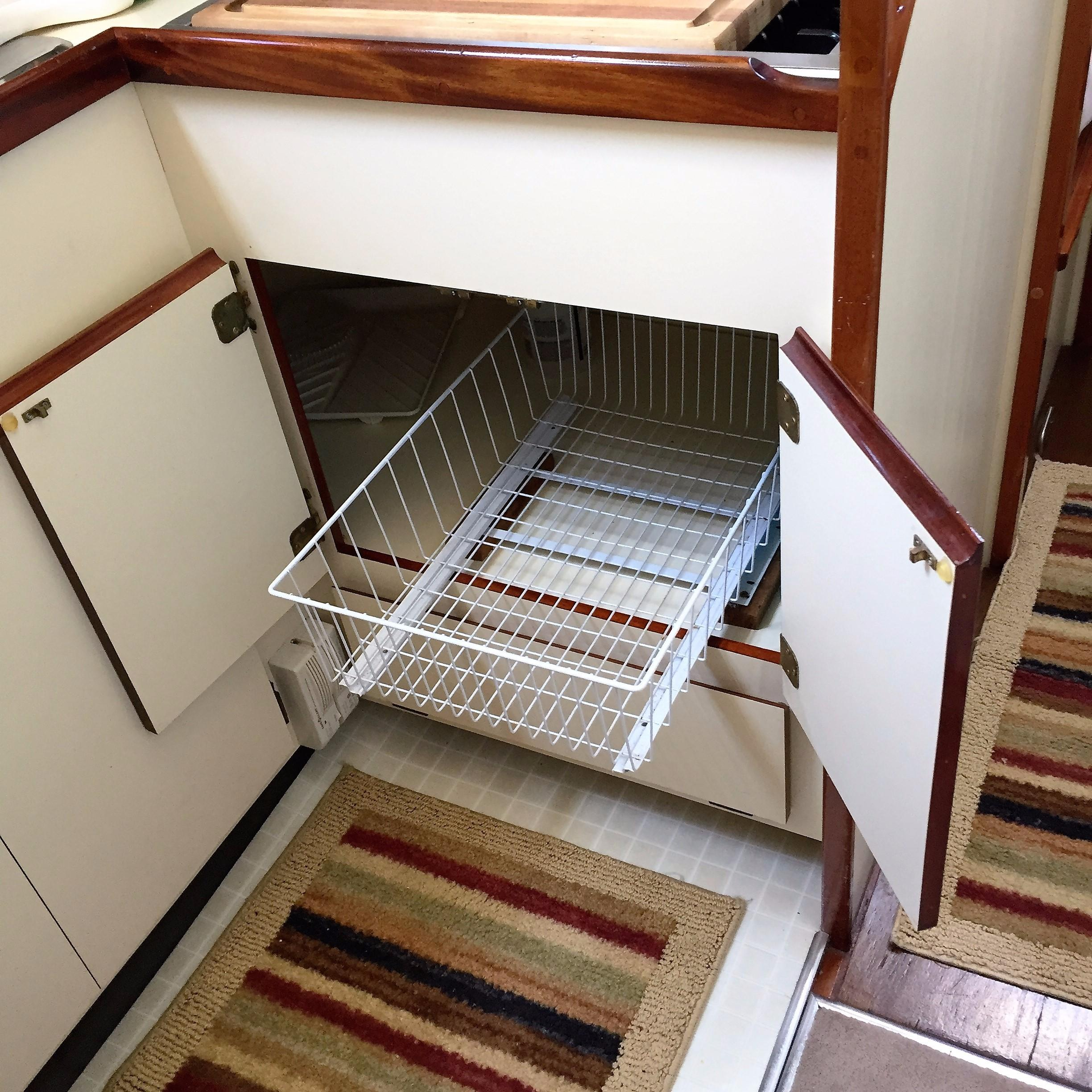 Galley Storage Under Stove