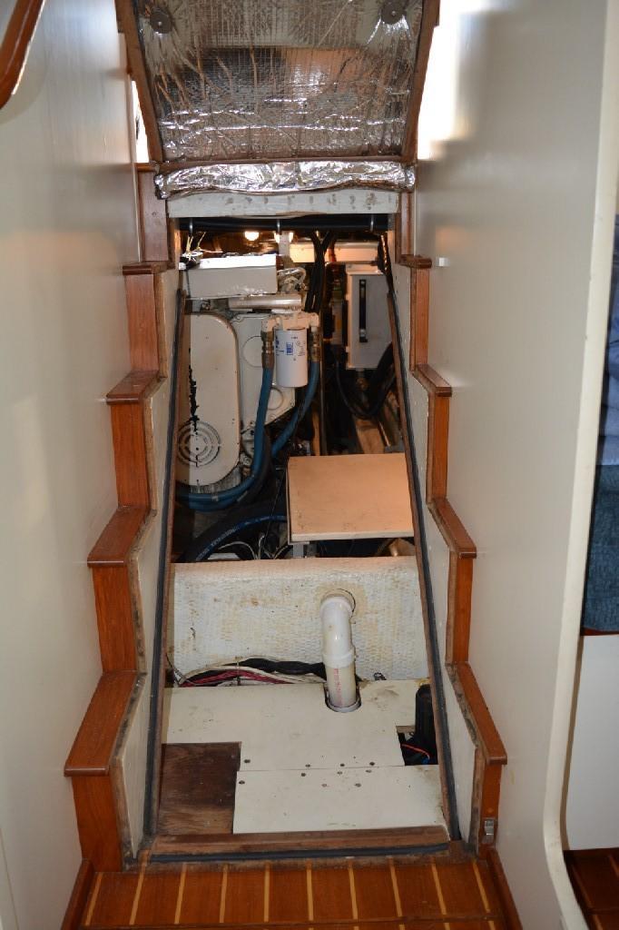 Cherubini Independence - Engine Room Access under Stairway