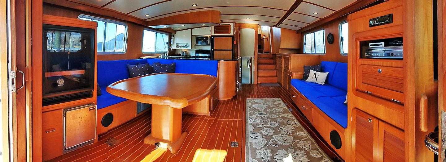 Salon from Aft Deck
