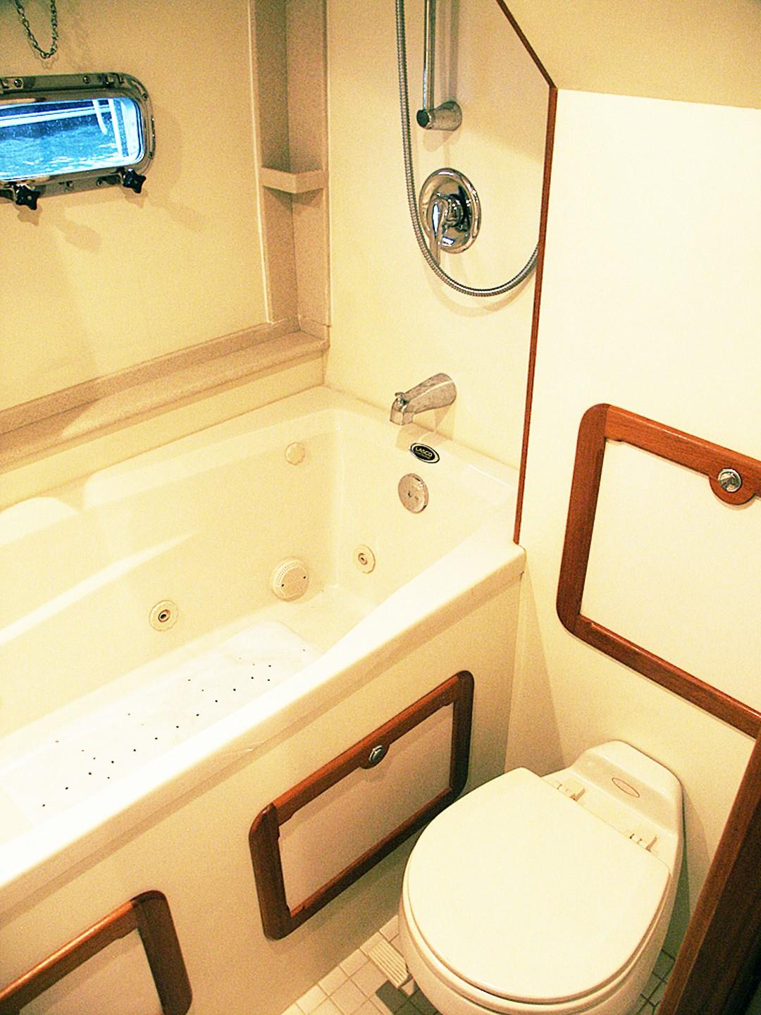 Owners Toilet and Jacuzzi Tub
