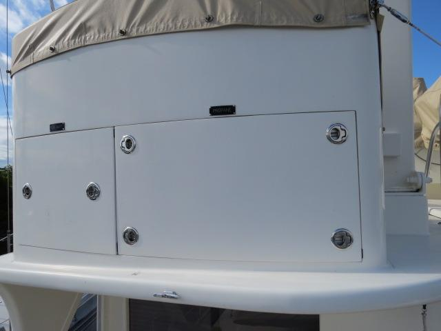 lockers for liferaft and propane