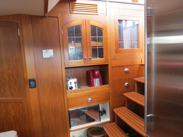 gorgeous cabinetry in galley