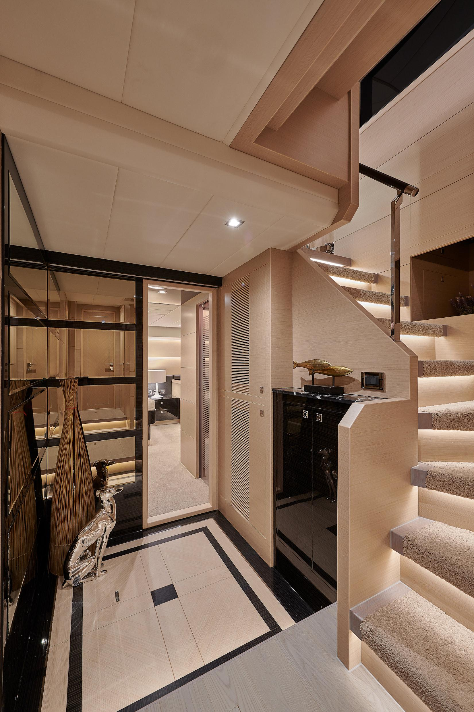 Manufacturer Provided Image: Stairwell to Master Stateroom