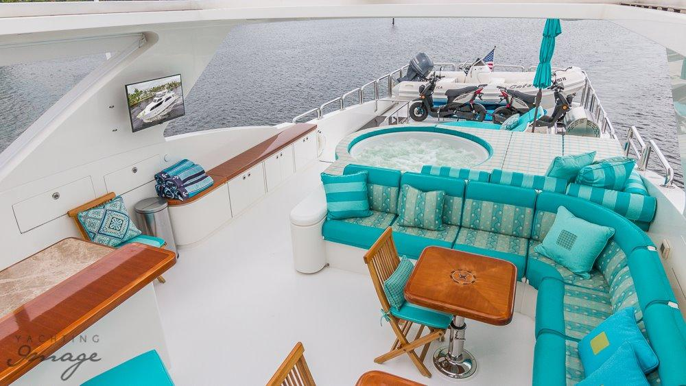 Upper Deck Seating and Jacuzzi
