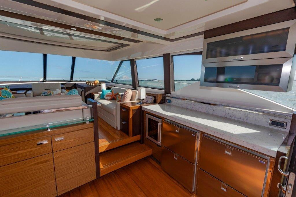 Galley Starboard with Salon