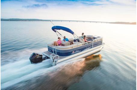 2020 Sun Tracker boat for sale, model of the boat is Signature Party Barge 22RF XP3 w/150L 4S & Image # 8 of 13