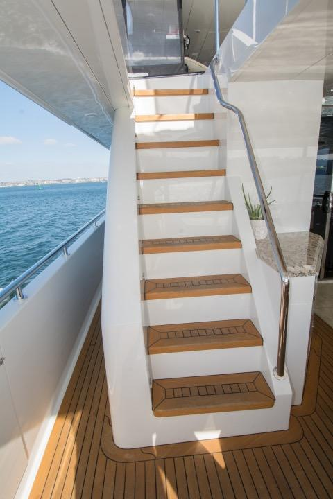 Staircase to boat deck