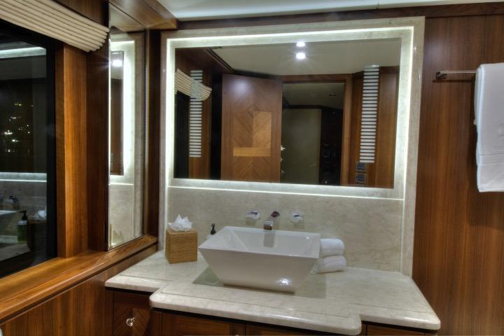 Master stateroom head vanity