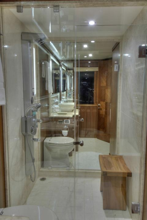 Master stateroom full beam head w/ walk through shower