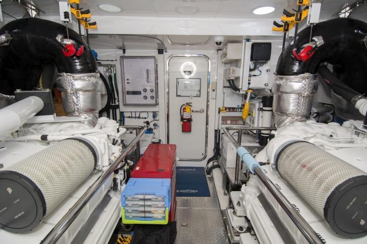 Engine room center looking aft