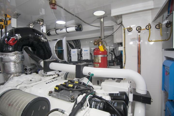 Port engine looking aft