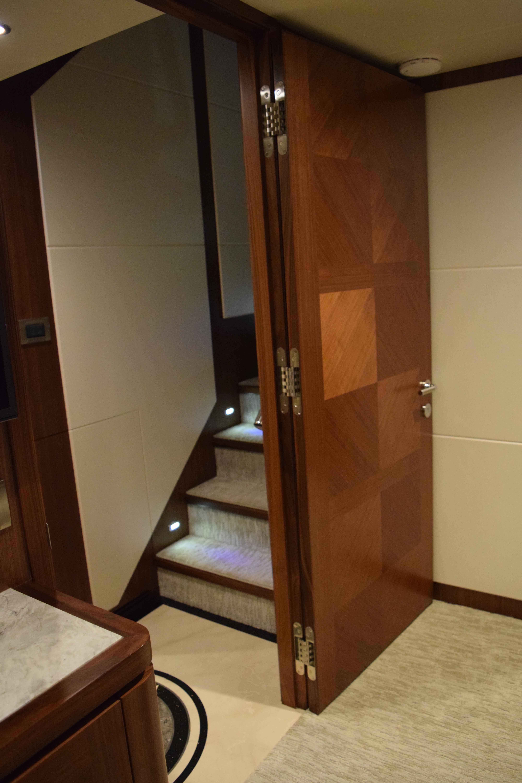 100 Ocean Alexander custom one piece master door