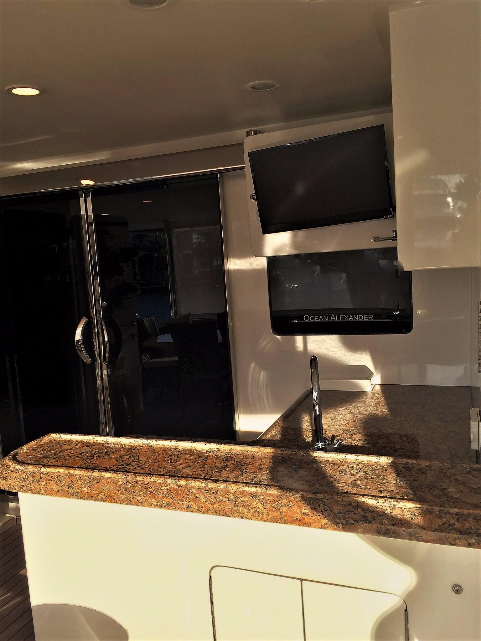 Aft Deck Wet Bar and TV